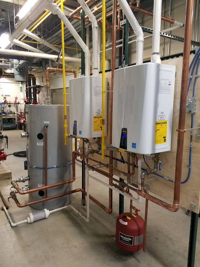 Tankless Water Heating System Installed To Serve The Lancaster VA Clinic